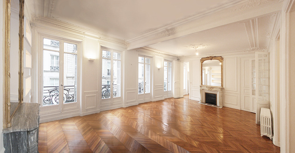 Immeuble haussmannien d finition chasseur d for Interieur haussmannien