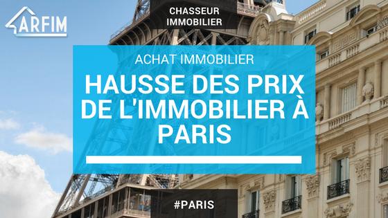 Hausse des prix de l'immobilier à Paris