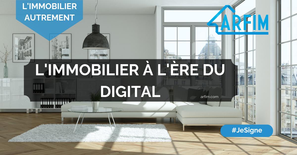 L'immobilier à l'ère du Digital