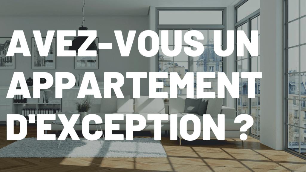 Chasseur appartement de prestige Paris